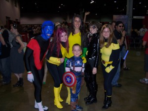 The X-Men with Cap