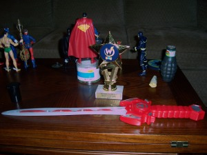 trophy and sword