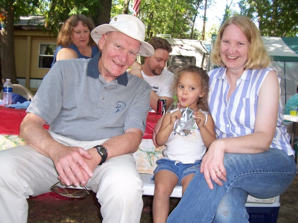 A photo of Carl Diener, Rowan Diener, and Dawn Jones.