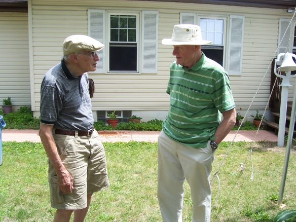 A photo of Jack Willet and Carl Diener at the Surbrook Family Reunion.